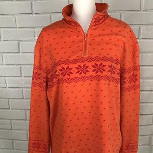 MODA International Orange Fleece Pullover